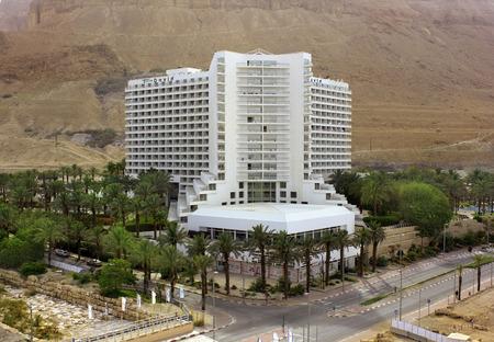 judean hills: Dead Sea, Ein Bokek, Israel - May 28  view of the David Spa Hotel   606 standard rooms and suites   on the background of the Judean Hills, on May 28, 2014 in Ein Bokek, Dead Sea, Israel