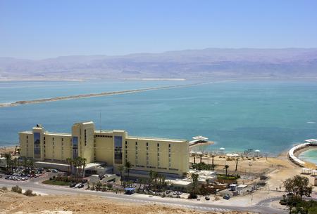 judean hills: Dead Sea, Ein Bokek, Israel - May 28  view of the Herods Hotel Dead Sea   215 standard rooms and 10 lux rooms   on the background of the Dead Sea, on May 28, 2014 in Ein Bokek, Dead Sea, Israel