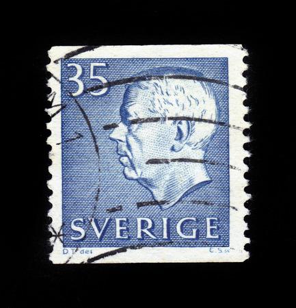 gustaf: SWEDEN - CIRCA 1961  stamp printed by Sweden, shows King of Sweden Gustaf VI Adolf, circa 1961