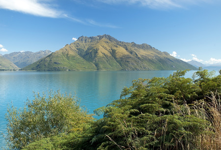 beautiful landscapes with wild nature of New Zealand photo