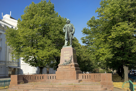 mikhail: monument to great russian composer Mikhail Ivanovich Glinka at Theater Square, Saint-Petersburg, Russia