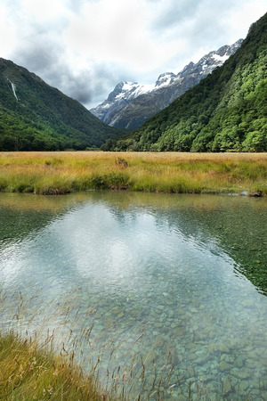 mackinnon: magnificent scenery of nature reserves in New Zealand Stock Photo