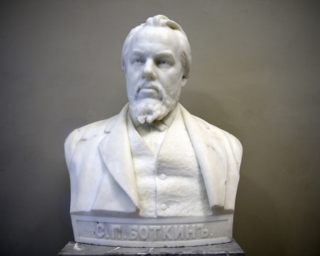 petrovich: ST. PETERSBURG, RUSSIA - August 08: marble bust of Sergei Petrovich Botkin, famous russian doctor, by sculptor Mark Matveevich Antokolsky, August 08, 2014 State Russian Museum, Saint Petersburg, Russia
