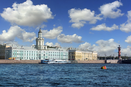 ethnography: Kunstkammer Building, now is Peter the Great Museum of Anthropology and Ethnography located on the Universitetskaya Embankment in Saint Petersburg, facing the Winter Palace, Russia