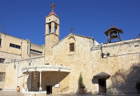gospels: Greek Orthodox Church of the Annunciation in Nazareth, lower Galilee, Israel Stock Photo