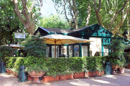 villa borghese: Rome, Italy - July 02: restaurant La Casina dell Orologio on July 02, 2014, Villa Borghese, Rome, Italy Editorial