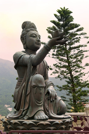 zeal: six bronze statues known as \\\The Offering of the Six Devas\\\, symbolise charity, morality, patience, zeal, meditation, and wisdom, all of which are necessary to enter into nirvana, Po Lin Monastery, Lantau Island, Hong Kong