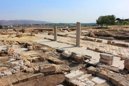 galilee: archaeological excavations and ruins of the ancient roman- and talmudic-era city of Zippori, is located in Lower Galilee, Israel