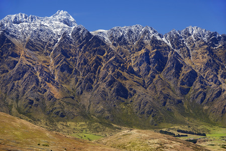 mackinnon: picturesque landscape with wild nature in New Zealand