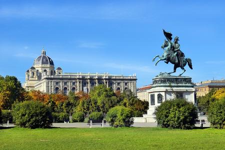 innere: equestrian monument of Archduke Charles, Vienna, Austria