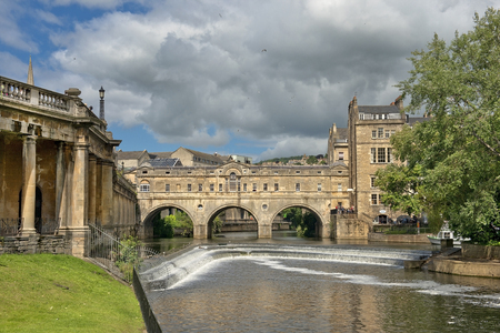 bath: cityscape in the medieval town Bath, Somerset, England Stock Photo