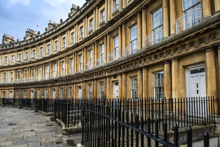 somerset: Houses Circus in Bath, Somerset, England Stock Photo