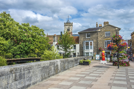 somerset: cityscape in the medieval town Bath, Somerset, England Stock Photo