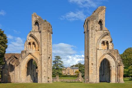 ruins of Glastonbury Abbey, was a monastery in Glastonbury, Somerset, England Stock fotó