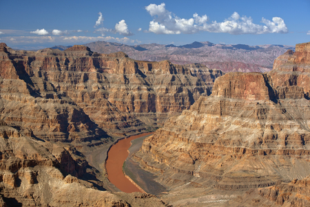 colorado river: view to the great Colorado River and Grand Canyon, Nevada, United States Stock Photo