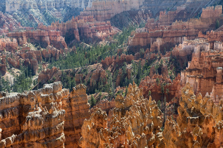 Bryce Canyon National Park, nature reserve  in southwestern Utah in the United States, unique geologic formation and spire-shaped rock formations