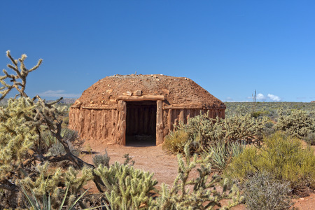 hogan, traditional dwelling of the Navajo people, southwestern United States