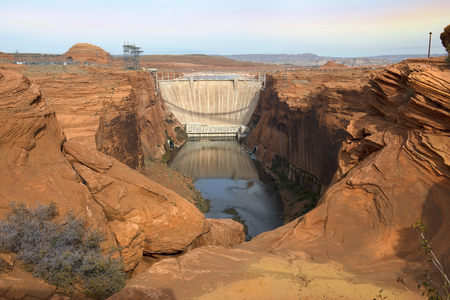 colorado river: Glen Canyon Dam, concrete arch dam on the Colorado River in northern Arizona in the United States, near the town of Page