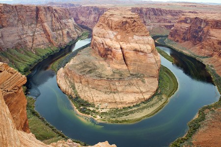 colorado river: Horseshoe Bend, horseshoe-shaped meander of the Colorado River located near the town of Page, Arizona, United States