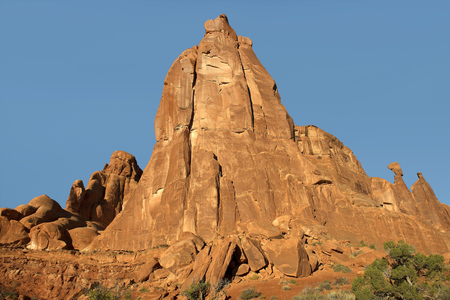 queen nefertiti: Queen Nefertiti Rock, Park Avenue, Arches National Park, Utah, USA