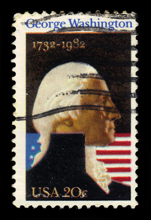 george washington: USA - CIRCA 1982: a stamp printed in USA shows George Washington, first president of the United States, circa 1982 Editorial