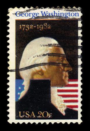 george washington: USA - CIRCA 1982: a stamp printed in USA shows George Washington, first president of the United States, circa 1982 Editorial
