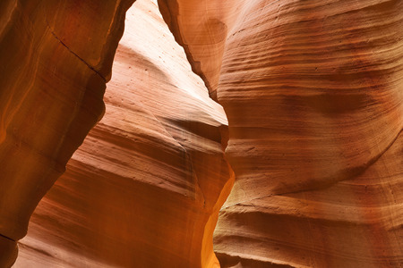 slot canyon: unusual geological formations in Antelope Canyon, Navajo parks, Arizona, slot canyon in the american southwest Stock Photo