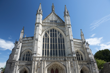 winchester: west facade of Winchester Cathedral, Winchester, Hampshire, England