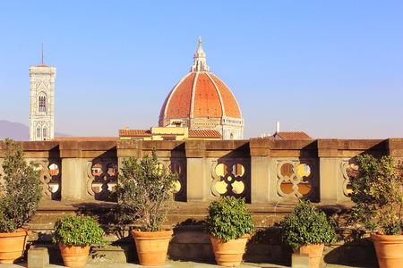 santa maria del fiore: dome of cathedral Santa Maria del Fiore (Duomo), Florence, Tuscany, Italy Stock Photo