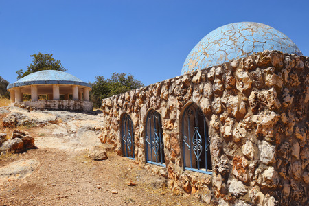 tomb of Bahya ben Asher ibn Halawa, also known as Rabbeinu Behaye, was rabbi and scholar of judaism, near Kadarim in the Galilee, Israel Stock Photo