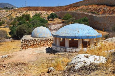 ibn: tomb of Bahya ben Asher ibn Halawa, also known as Rabbeinu Behaye, was rabbi and scholar of judaism, near Kadarim in the Galilee, Israel Stock Photo