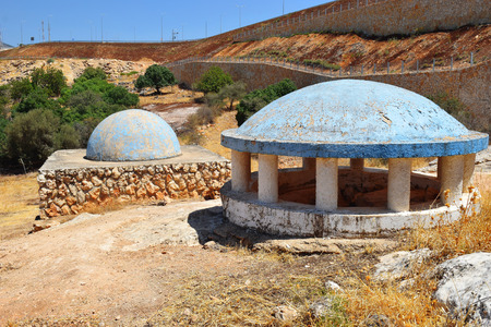 talmud: tomb of Bahya ben Asher ibn Halawa, also known as Rabbeinu Behaye, was rabbi and scholar of judaism, near Kadarim in the Galilee, Israel Stock Photo