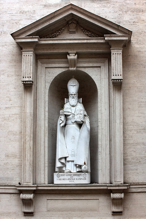illuminator: statue of Saint Gregory the Illuminator in Vatican