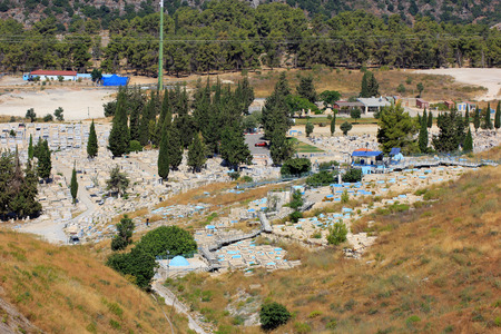 hasidic: old and modern  cemetery, Safed, Upper Galilee, Israel