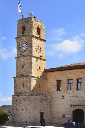 hasidic: Seraya, old Ottoman fortress and clock tower, Safed, Upper Galilee, Israel