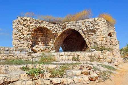 hasidic: ruins of an old house in the jewish religious quarter in Safed, Upper Galilee, Israel