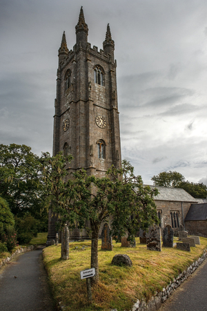 county somerset: St. Ives Parish Church and old cemetery, Cornwall, England