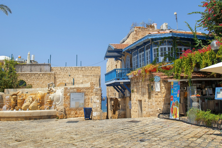jewish houses: TEL AVIV, ISRAEL - August 24, 2016: picturesque corner in the Old City of Jaffa on august 24, 2016 Tel Aviv, Israel Editorial