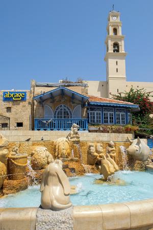 jaffo: TEL AVIV, ISRAEL - August 24, 2016: picturesque corner in the Old City of Jaffa on august 24, 2016 Tel Aviv, Israel Editorial