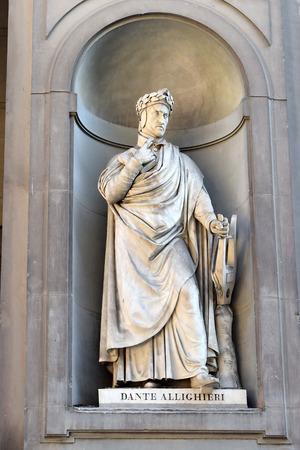 dante alighieri: Dante Alighieri statue by Emilio Demi, Florence Editorial