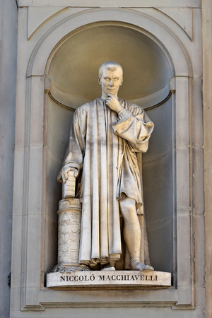Niccolo Machiavelli statue by Lorenzo Bartolini, Florence Stok Fotoğraf
