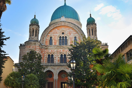 synagogues: Great Synagogue of Florence or Tempio Maggiore is one of the largest synagogues in South-central Europe, situated in Florence, Italy Stock Photo