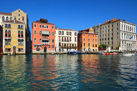 typical cityscape of the Grand Canal in Venice, Italy
