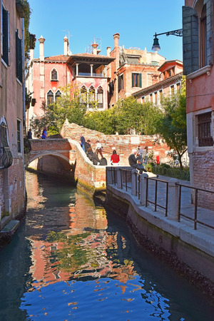 romantic places: picturesque places of romantic Venice, Italy