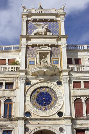 vecchie: Clock Tower (Torre dell Orologio) at San Marco Square in Venice, Italy Stock Photo