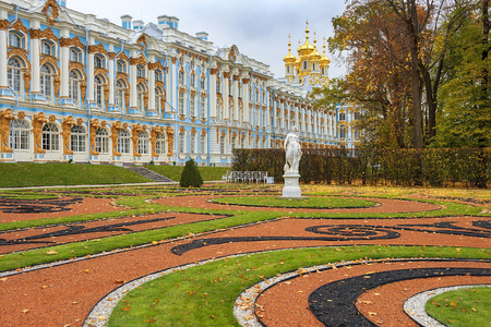 leningrad: Catherine Palace in Tsarskoye Selo (Pushkin), Saint Petersburg, Russia