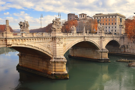Ponte Vittorio Emanuele II is a bridge, across the Tiber in Rome constructed in1886 by the architect Ennio De Rossi