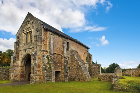 the abbot: ruins of Cleeve Abbey,  medieval monastery located near the village of Washford in Somerset, England