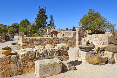 picturesque ruins of a medieval monastery on Mount Tabor, Galilee, Israel