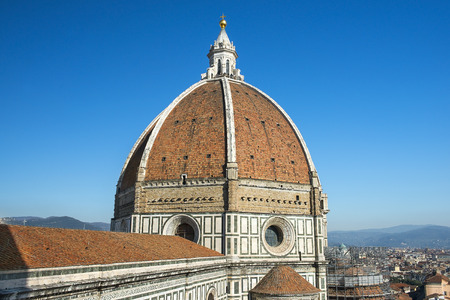 dome of cathedral Santa Maria del Fiore (Duomo), Florence, Tuscany, Italy Stock Photo